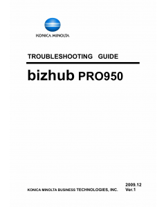 Konica-Minolta bizhub-PRO 950 TROUBLESHOOTING Service Manual