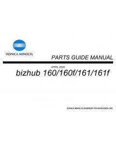 Konica-Minolta bizhub 160 160f 161 161f Parts Manual