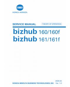 Konica-Minolta bizhub 160 160f 161 161f THEORY-OPERATION Service Manual