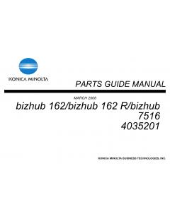 Konica-Minolta bizhub 162 162R 7516 Parts Manual