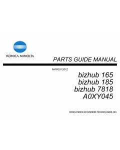 Konica-Minolta bizhub 165 185 7818 Parts Manual