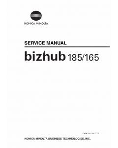 Konica-Minolta bizhub 165 185 Service Manual