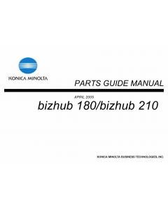 Konica-Minolta bizhub 180 210 Parts Manual