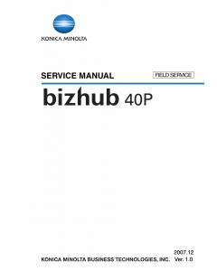 Konica-Minolta bizhub 40P FIELD-SERVICE Service Manual