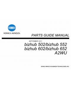 Konica-Minolta bizhub 502 552 602 652 Parts Manual