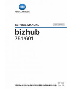 Konica-Minolta bizhub 601 751 FIELD-SERVICE Service Manual