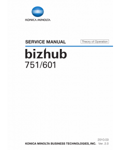 Konica-Minolta bizhub 601 751 THEORY-OPERATION Service Manual