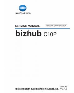 Konica-Minolta bizhub C10P THEORY-OPERATION Service Manual