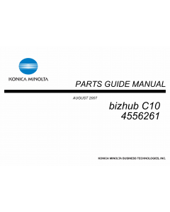 Konica-Minolta bizhub C10 Parts Manual