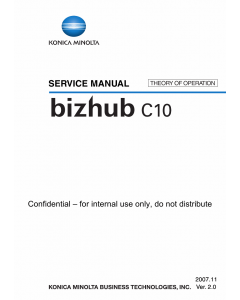 Konica-Minolta bizhub C10 THEORY-OPERATION Service Manual