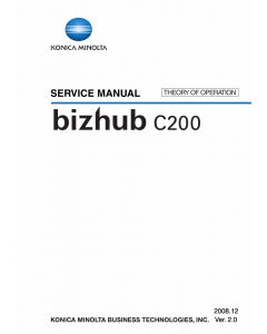 Konica-Minolta bizhub C200 THEORY-OPERATION Service Manual