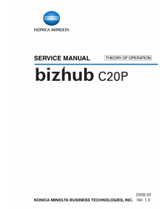 Konica-Minolta bizhub C20P THEORY-OPERATION Service Manual