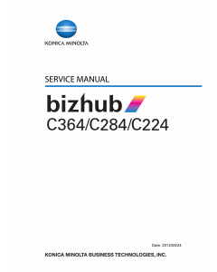 Konica-Minolta bizhub C224 C284 C364 Parts and Service Manual