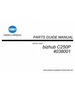 Konica-Minolta bizhub C250P 4038001 Parts Manual