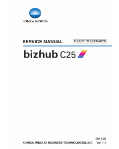 Konica-Minolta bizhub C25 THEORY-OPERATION Service Manual