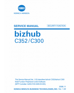 Konica-Minolta bizhub C300 C352 SECURITY-FUNCTION Service Manual