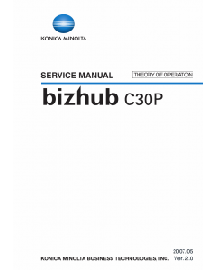 Konica-Minolta bizhub C30P THEORY-OPERATION Service Manual