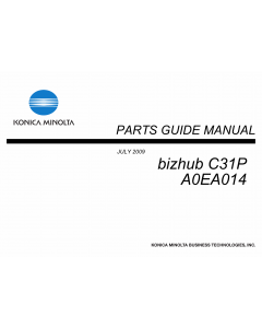 Konica-Minolta bizhub C31P Parts Manual