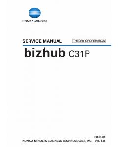 Konica-Minolta bizhub C31P THEORY-OPERATION Service Manual