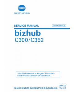 Konica-Minolta bizhub C350 C352 FIELD-SERVICE Service Manual
