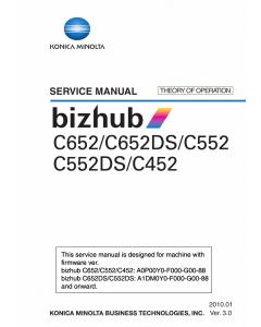 Konica-Minolta bizhub C452 C552 C552DS C652 C652DS THEORY-OPERATION Service Manual