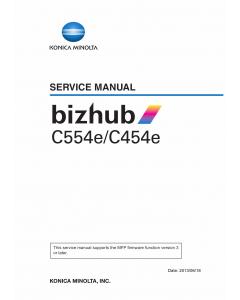 Konica-Minolta bizhub C454e C554e Service Manual