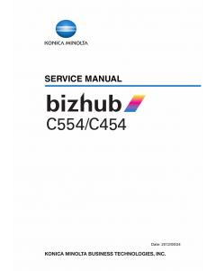Konica-Minolta bizhub C554 C454 Service Manual