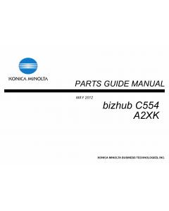 Konica-Minolta bizhub C554 Parts Manual