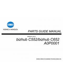 Konica-Minolta bizhub C652 C552 Parts Manual