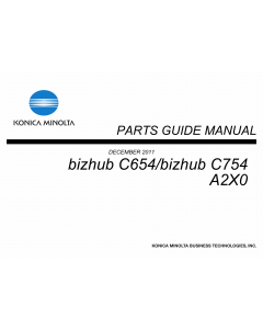 Konica-Minolta bizhub C654 C754 Parts Manual