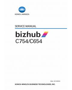 Konica-Minolta bizhub C654 C754 Service Manual