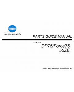 Konica-Minolta bizhub FORCE75 DP75 55ZE Parts Manual