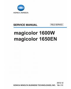 Konica-Minolta magicolor 1600W 1650EN FIELD-SERVICE Service Manual