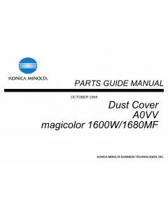 Konica-Minolta magicolor 1600W 1680MF Dust-Cover A0VV Unit Parts Manual