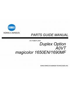 Konica-Minolta magicolor 1650EN 1690MF Duplex-Option Unit A0VT Parts Manual