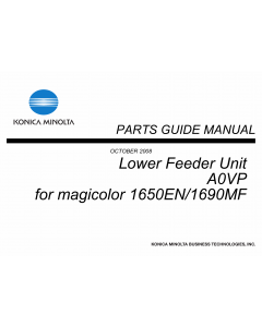 Konica-Minolta magicolor 1650EN 1690MF Lower-Feed Unit A0VP Parts Manual