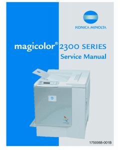 Konica-Minolta magicolor 2300 Service Manual