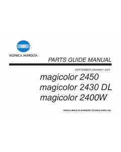 Konica-Minolta magicolor 2400W 2430DL 2450 Parts Manual