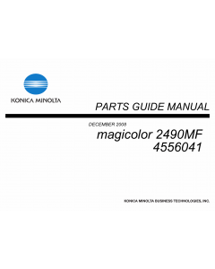 Konica-Minolta magicolor 2490MF 4556041 Parts Manual