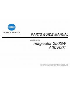 Konica-Minolta magicolor 2500W A00V001 Parts Manual