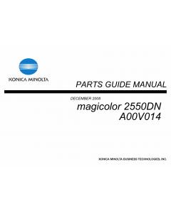 Konica-Minolta magicolor 2550DN A00V014 Parts Manual