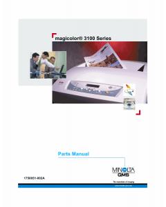 Konica-Minolta magicolor 3100 Parts Manual