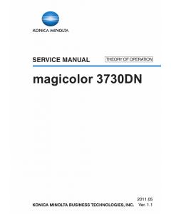 Konica-Minolta magicolor 3730DN THEORY-OPERATION Service Manual