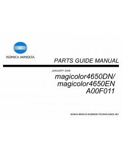 Konica-Minolta magicolor 4650DN 4650EN A00F011 Parts Manual
