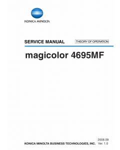 Konica-Minolta magicolor 4695MF THEORY-OPERATION Service Manual