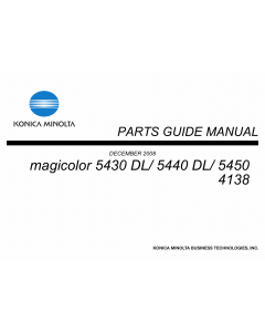 Konica-Minolta magicolor 5430DL 5440DL 5450 4138 Parts Manual