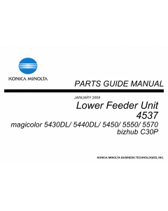 Konica-Minolta magicolor 5430DL 5440DL 5450 5500 5570 Lower-Feeder-Unit 4537 Parts Manual