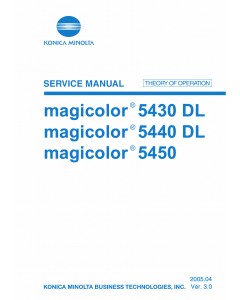 Konica-Minolta magicolor 5430DL 5440DL 5450 THEORY-OPERATION Service Manual