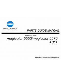 Konica-Minolta magicolor 5550 5570 A011 Parts Manual