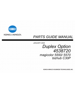 Konica-Minolta magicolor 5550 5570 C30P Duplex-Option 4538720 Parts Manual
